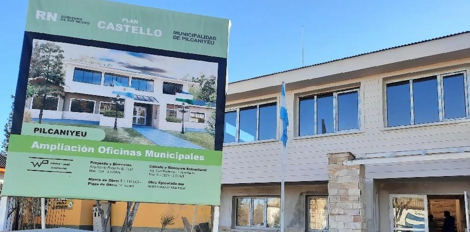 La ampliación de la Municipalidad de Pilcaniyeu estará lista en octubre